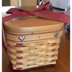 Longaberger Sweetheart Small Sweetest Basket 2002